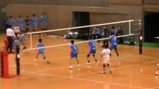 天皇杯皇后杯2009男子1回戦「大分三好×順天堂大」.mpg