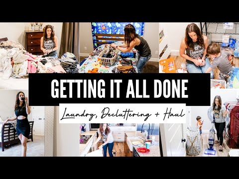 GETTING IT ALL DONE || LAUNDRY, DECLUTTERING + HAUL | HOUSE HUNTING UPDATE | CLEAN WITH ME 2021 - Fitbusybee