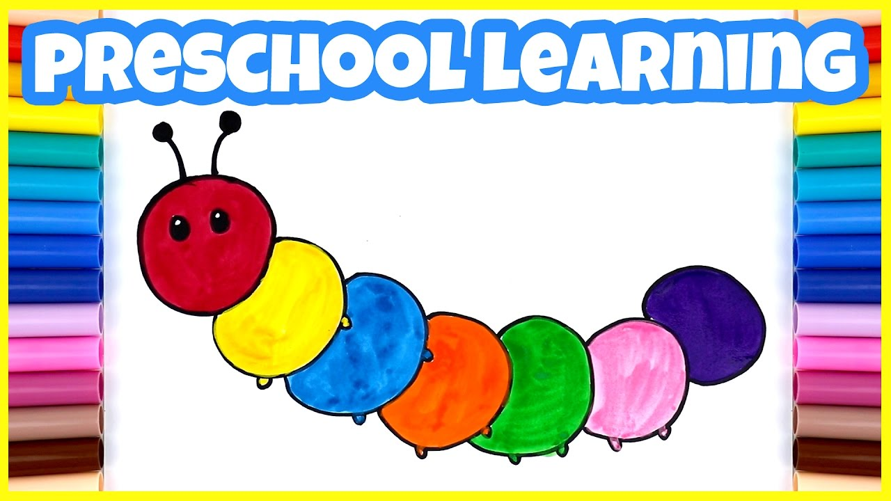 drawing and painting for kids caterpillar and vegetables coloring for kids - Drawings To Paint For Kids