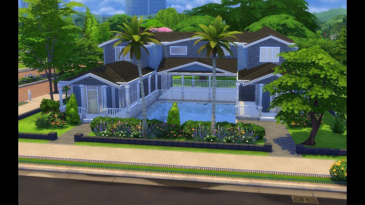 The sims 4 house building cool summer youtube for Awesome sims