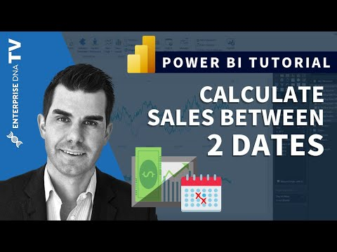 Calculate Amounts Sold Between Two Dates In Power BI w/DAX - YouTube