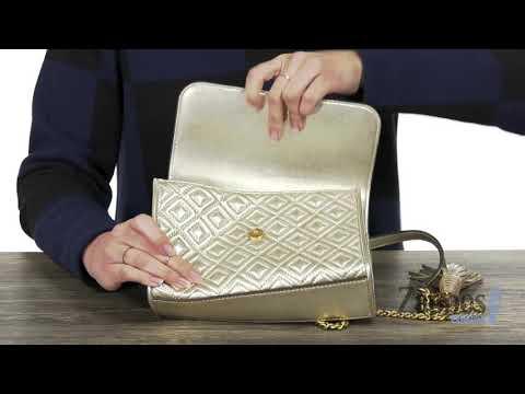 83de9b876b5b Tory Burch Fleming Metallic Small Convertible Shoulder Bag SKU  9188713