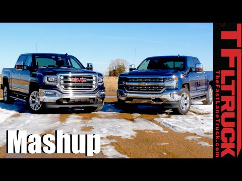 2016 Chevy Silverado 5 3l Vs Gmc Sierra 6 2l Drag Race Mpg Mashup Review