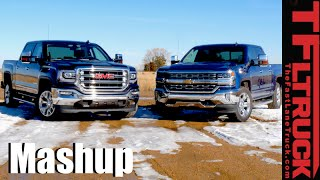2016 Chevy Silverado 5.3L vs GMC Sierra 6.2L Drag Race & MPG Mashup Review