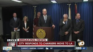 City responds to Chargers move to LA