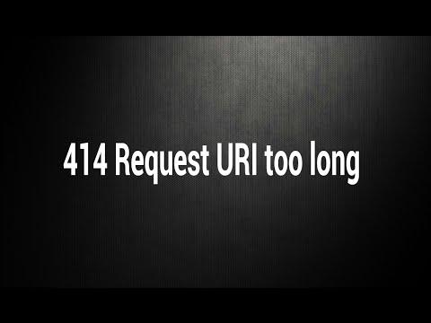 Solve 414 Request URI too long