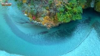 4Kドローン空撮【ユーシン渓谷】紅葉 神奈川 Drone Japan