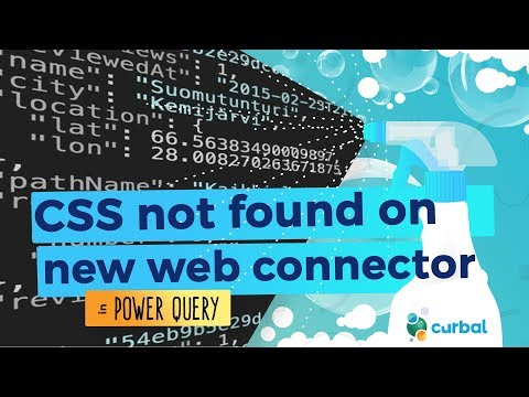 CSS Not Found On New Power BI Web Connector?  😬- Download 28