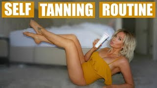 SELF TANNING ROUTINE