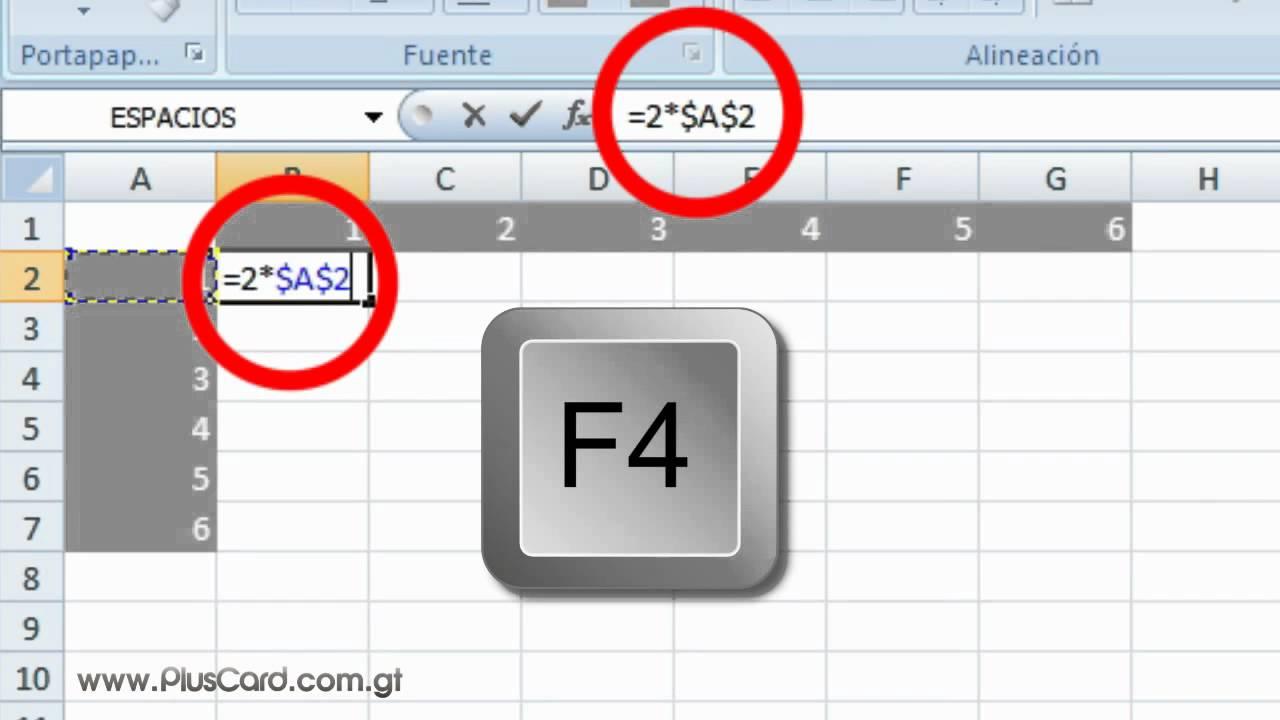 Copiar Formulas con Referencias Relativas y Absolutas en ...