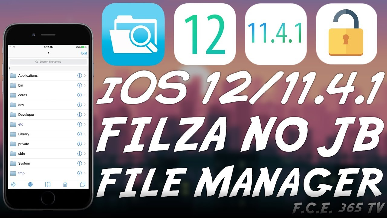 iOS 12 1 2 / 12 GeoFilza RELEASED! (Filza File Manager NO JAILBREAK) With  ROOT