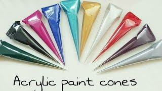 Henna Art by Aroosa: How to make an acrylic paint cone