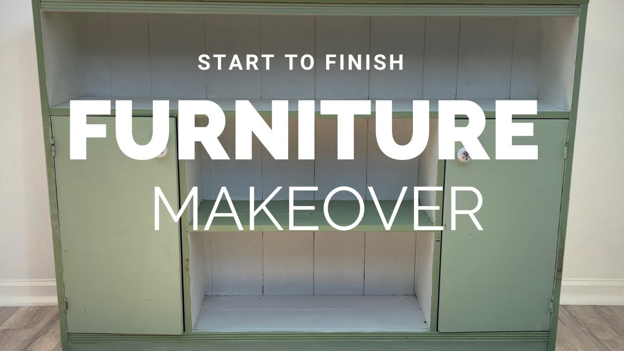 Furniture Makeover | Repurposing an Old Bookcase into an Entryway Piece | Tips for Client Flips