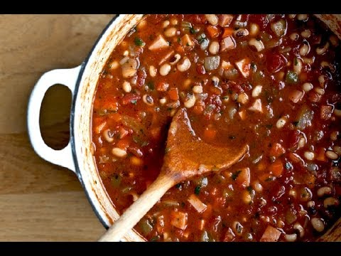 Low Fat Vegan No Oil Greek Black Eyed Peas & Vegetable Soup