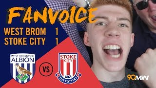 Peter crouch header keeps west brom out of first place! | west brom 1-1 stoke city | 90min fanvoice