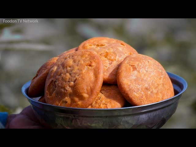 Moong Dal Kachori Recipe | Khasta Kachori Recipe | Indian Village Cooking