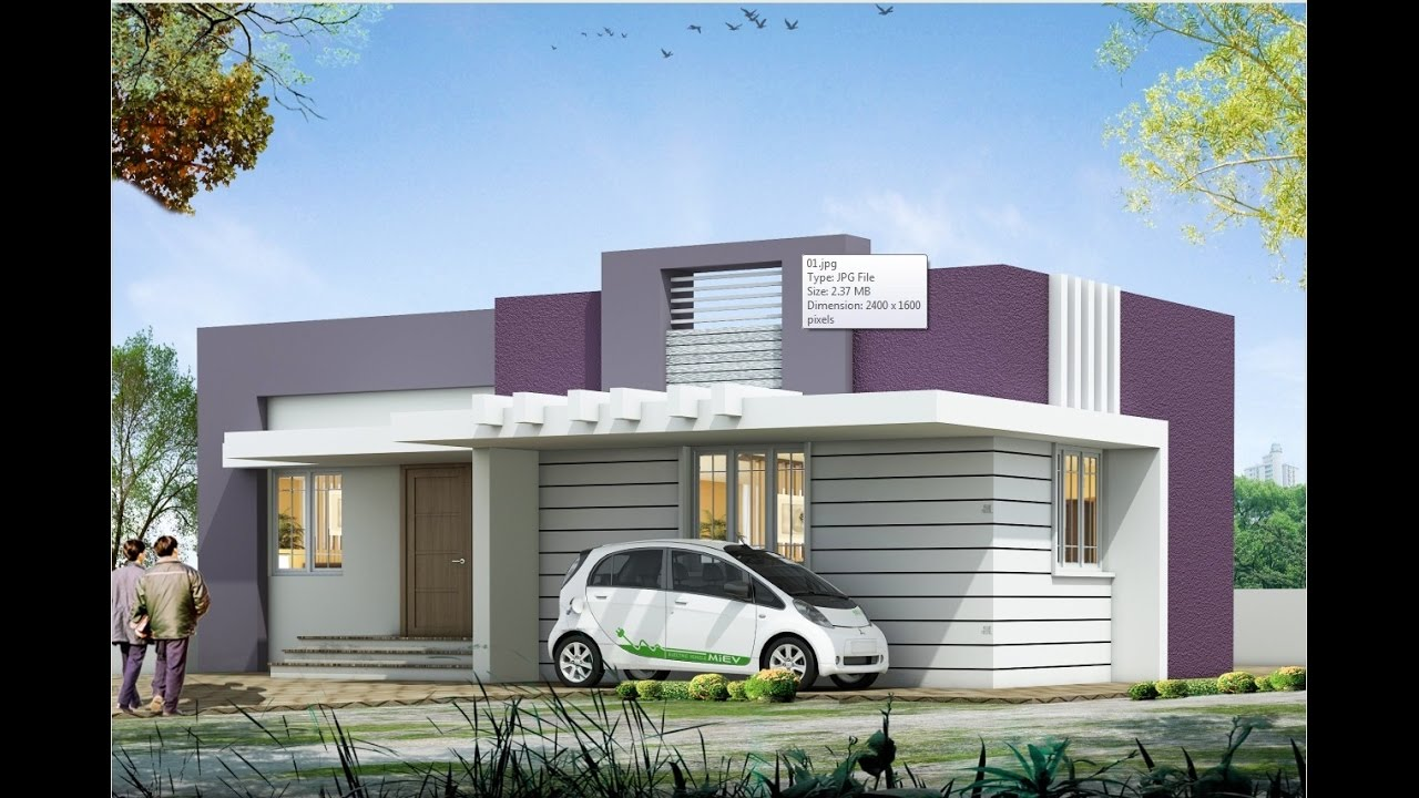Elevation Of Ground Floor House : Ground floor house elevation designs in india thefloors