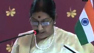 EAM Sushma Swaraj delivers speech at Centre for Bharat Studies at Mahidol University Part 1