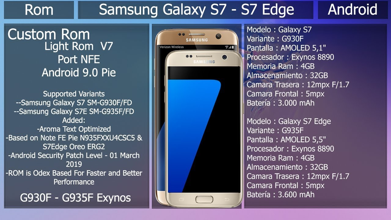 Rom Light Rom Port NFE V7- Android 9 0 - Samsung Galaxy S7/S7Edge