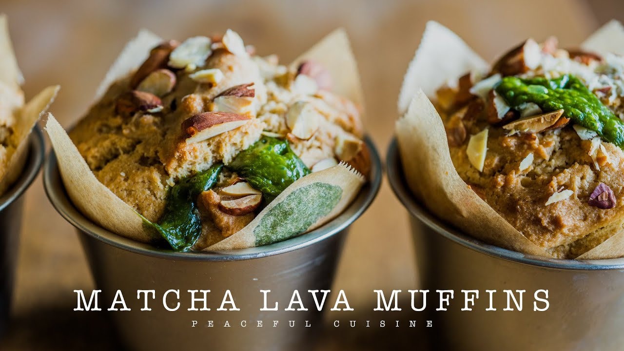 Matcha lava muffins vegan youtube for Epi cuisine collective
