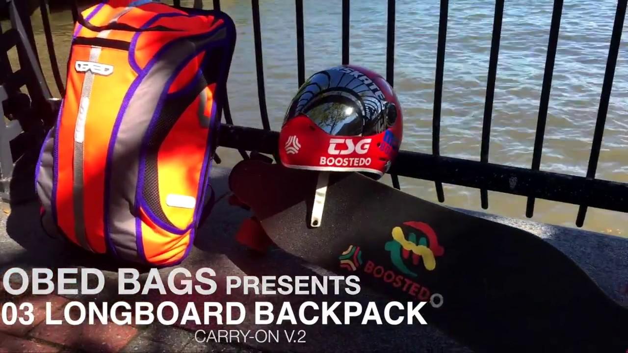 Obed Bags 03 Longboard Backpack V 2 Orange