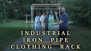 Let's Make an Industrial Iron Pipe Clothing Rack | How To