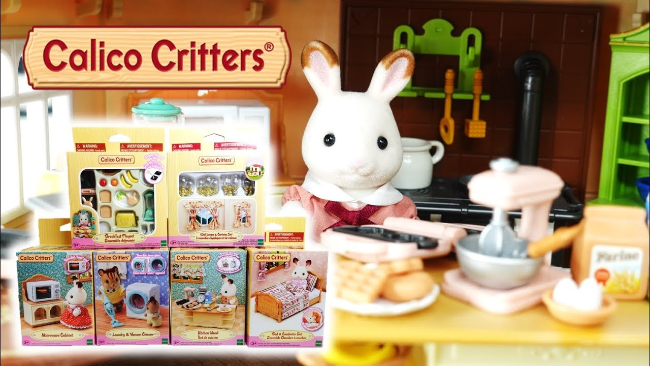 Calico Critters Doll House Home Furniture Upgrade Youtube