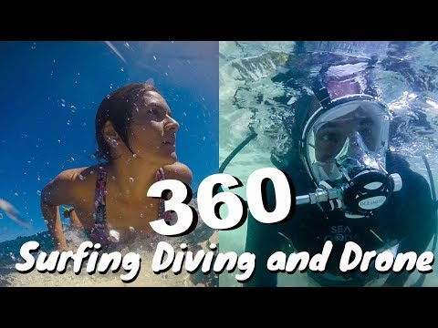 360 Underwater , Surfing, and Drone