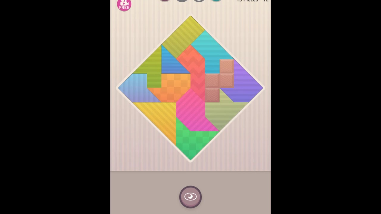 polygrams tangram shapes basic levels 13 pieces answer