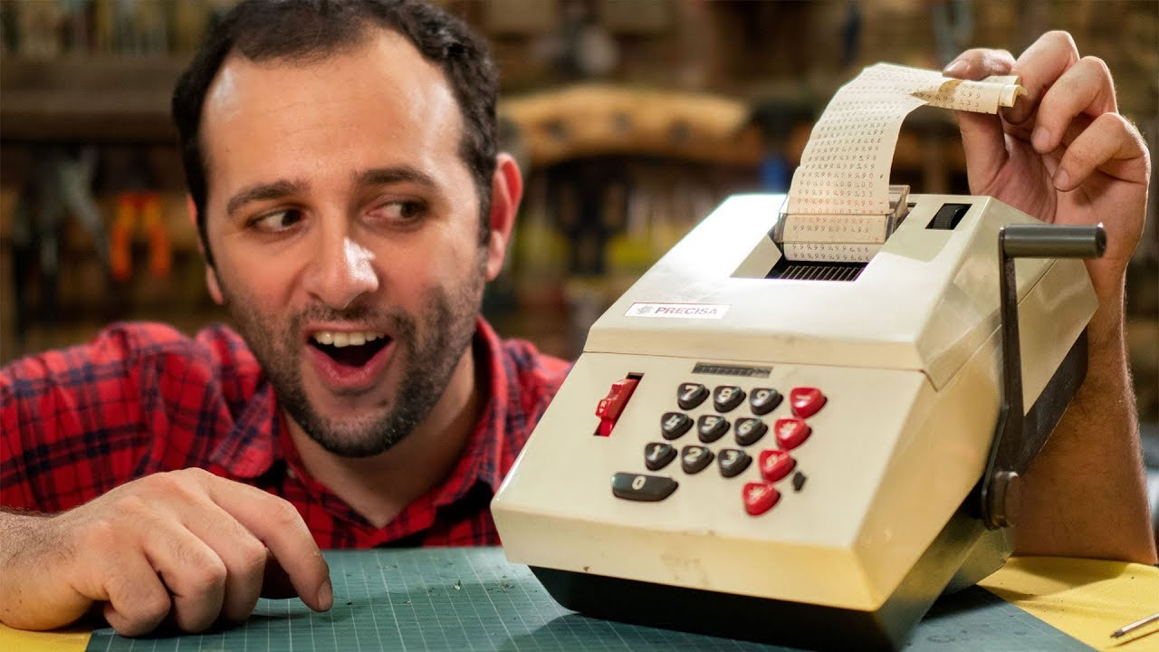 Máquina de calcular a manivela? Nós abrimos! #OQTD