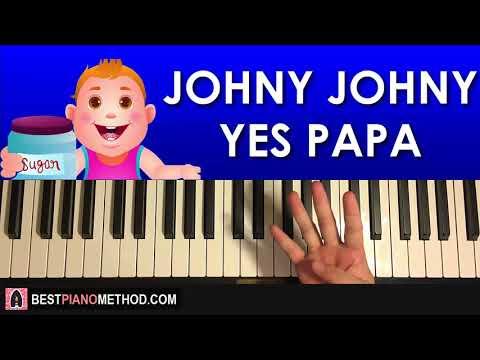 HOW TO PLAY - Johny Johny Yes Papa (Piano Tutorial Lesson)