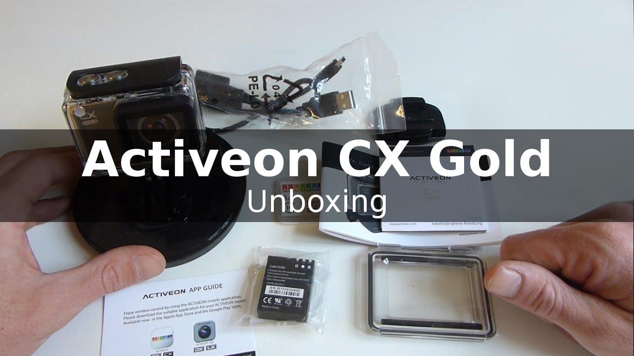 Actioncam Activeon Cx Gold Unboxing Youtube