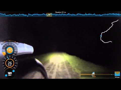 Lancaster to Carnforth towpath via Canal Aqueduct 60fps