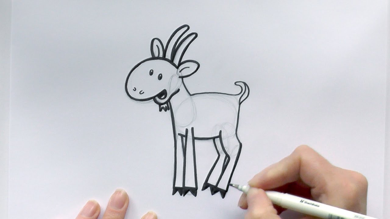 how to draw a cartoon goat for chinese new year youtube