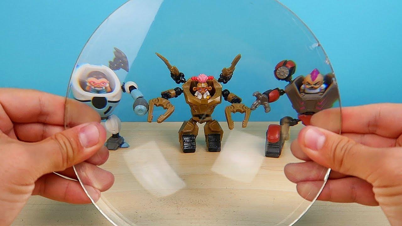 Роботы Ready2Robot против огромной Линзы которая прожигает предметы! alex boyko