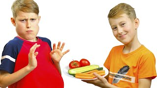 Alex Pretend Play Preparing Healthy Food For friend + more Funny Kids Video