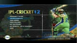 EA Sports Cricket 2012 + IPL-5 Patch For Cricket07 PC Game [Gameplay]