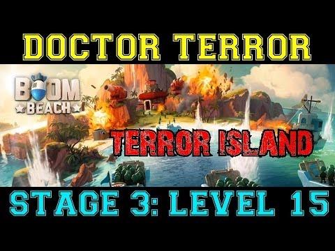 Terror Stage #3 - Level 15 Terror Island Base | Doctor Terror's Boom Beach HQ Attack Strategies