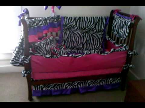 Custom 12 Piece Crib / Toddler Bedding Set By Glam R Girls Boutique