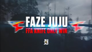 JuJu Smith-Schuster Wins COD FFA With Knife Only FaZe JuJu Free-For-All Call of Duty WW2 Game