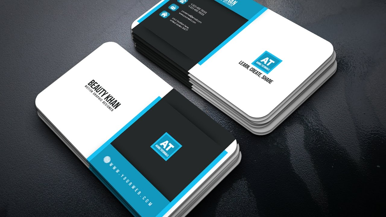 Clean Corporate Business Card Design | 2017 | Adobe Tutorials - YouTube