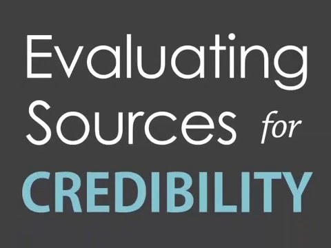evaluating websites for credibility