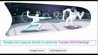 London 2012 Fencing - Fourth Day Doodle from Google