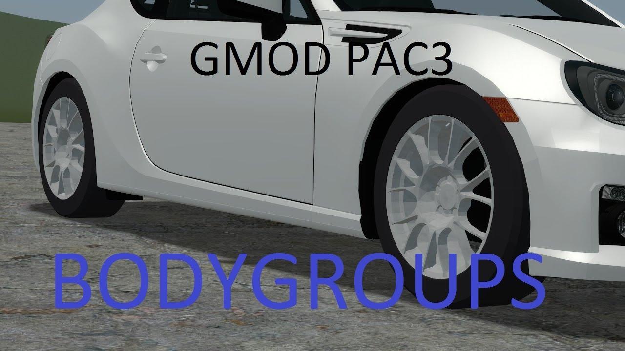 GMOD PAC3 Bodygroups