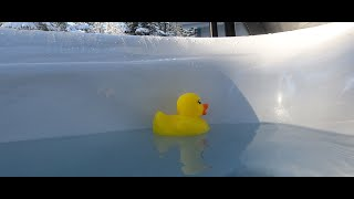 Hot Tub, Shovelling, & Ruber Ducks! Vlog #20