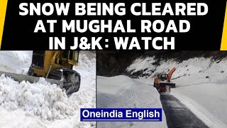 Jammu & Kashmir: Snow clearance operation underway at Mughal Road in Rajouri district: Watch