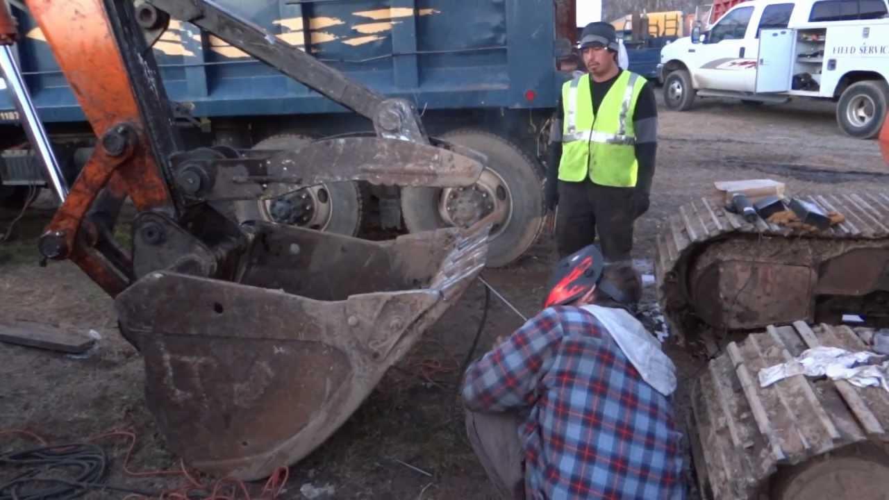 Excavator Welding Project - Bucket Teeth Dental Surgery