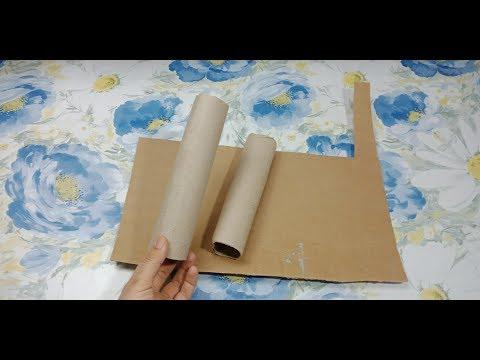 لا ترمي رول مناديل  المطبخ /symple and genius /recycling idea/tissue roll /best out of waste