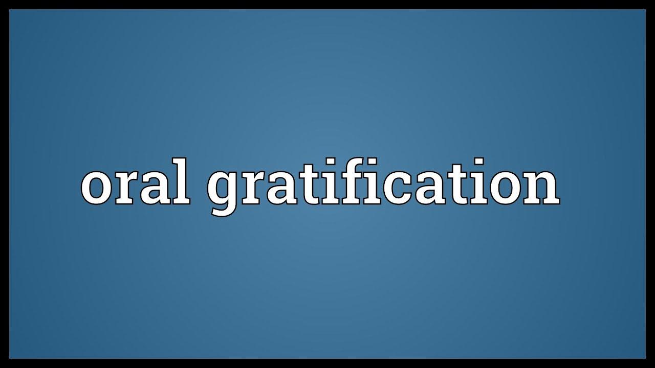 oral gratification