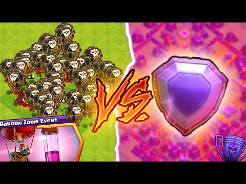 BALLOON EVENT VS. LEGENDS CHALLENGE! Clash of Clans NEW EVENT!